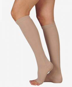 juzo-basic-knee-high-open-toe-compression-stockings