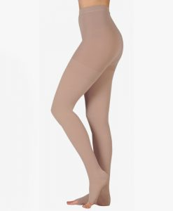 juzo-dynamic-open-toe-compression-pantyhose