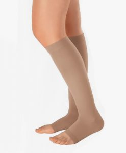juzo-naturally-sheer-knee-high-open-toe-compression-stockings