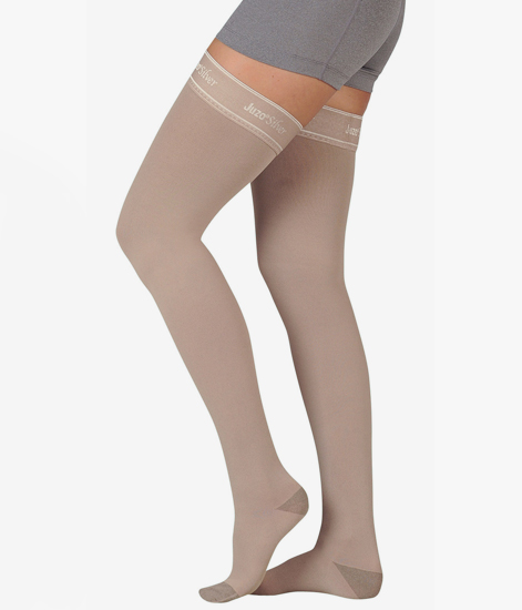 juzo silver soft 2062 thigh high compression stockings 30 40 mmhg